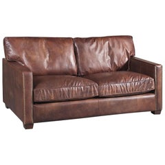 Alabama Sofa 2-Seat with Genuine Leather