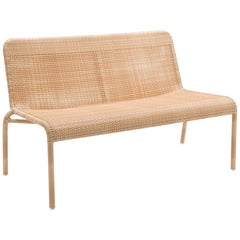Rattan Braided Resin French Design Outdoor Sofa