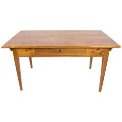 19th Century Biedermeier Cherrywood Farmhouse Table