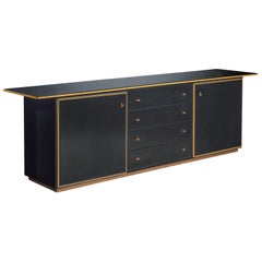 Afra and Tobia Scarpa Black Lacquered Cabinet