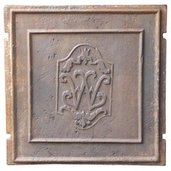 18th Century French Fireback with Monogram