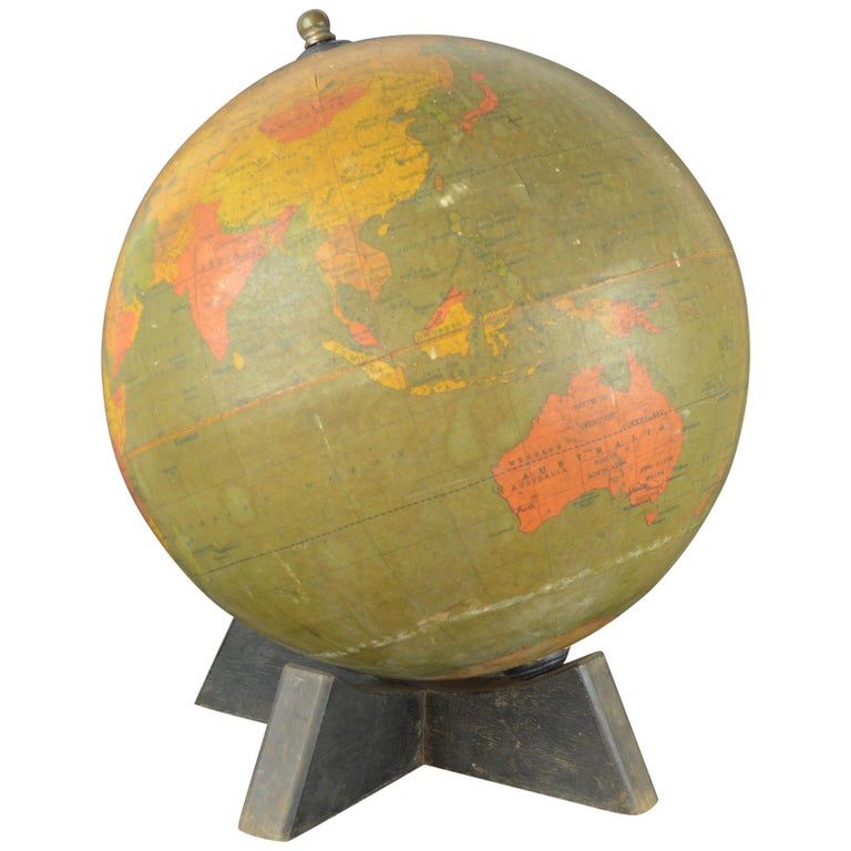 Vintage Midcentury Globe by Johnston & Bacon, circa 1950 For Sale