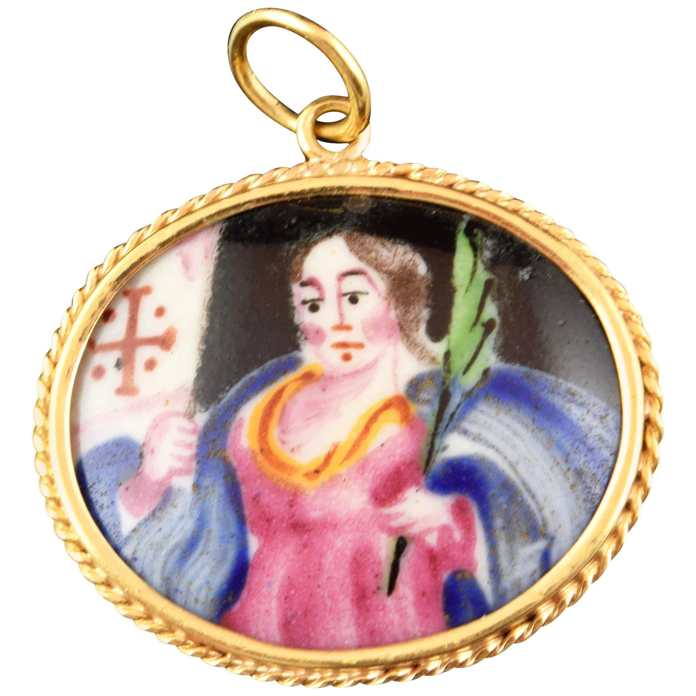 Devotional Pendant, Gold, Enamels, Possibly, 18th Century