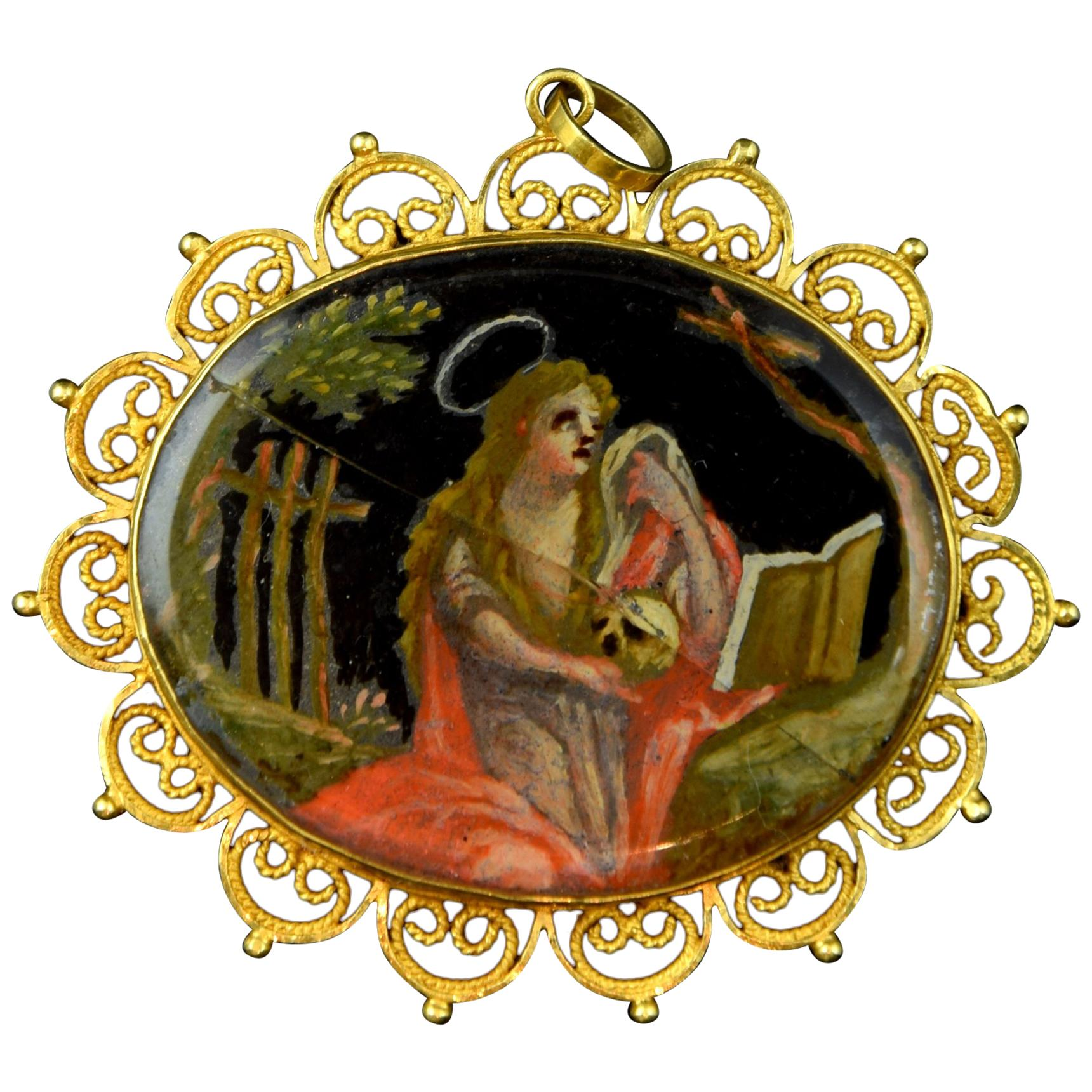 Devotional Pendant, Gold, Enamel, 18th Century