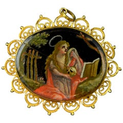 Devotional Pendant, Gold, Enamel, 18th Century