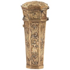 18th Century Italian Venice Silver Etui Case