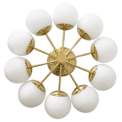 Sputnik Multi-Globe Chandelier or Ceiling Lamp by Kaiser Leuchten, Germany 1970s