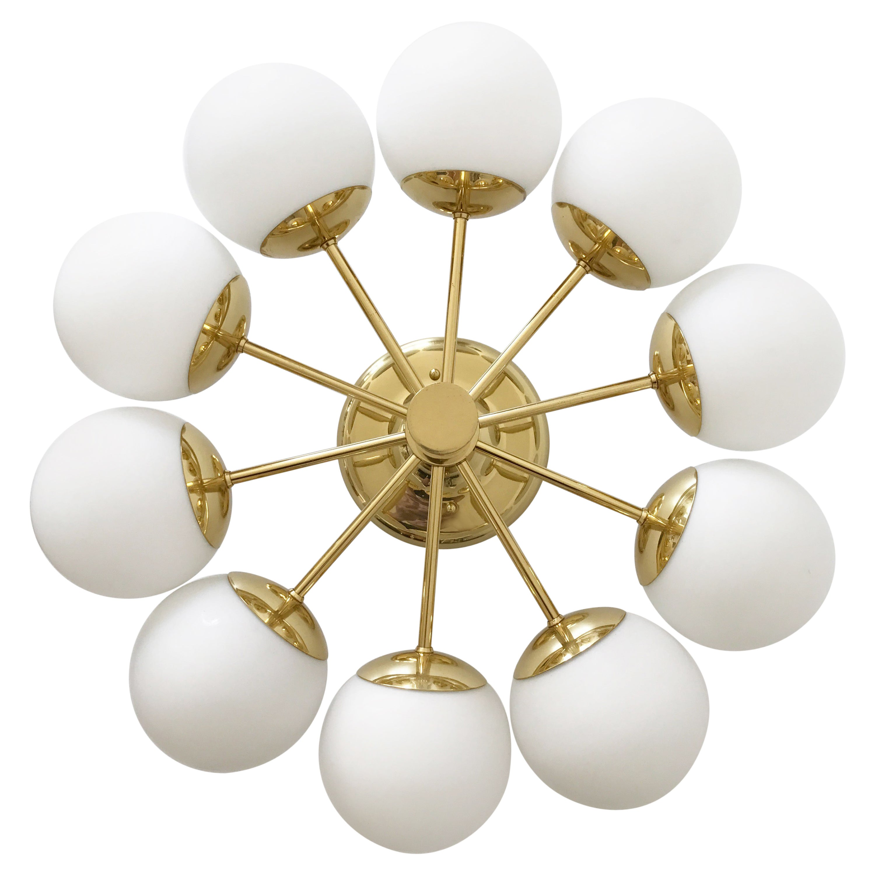 Sputnik multi globe chandelier or ceiling lamp by kaiser leuchten germany 1970s for sale at 1stdibs