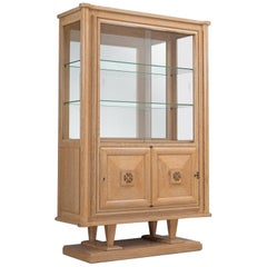 Art Deco Vitrine Cabinet in Blond Oak
