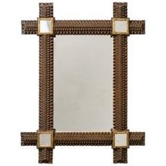 Art Deco Carved Wood Mirror, 1927