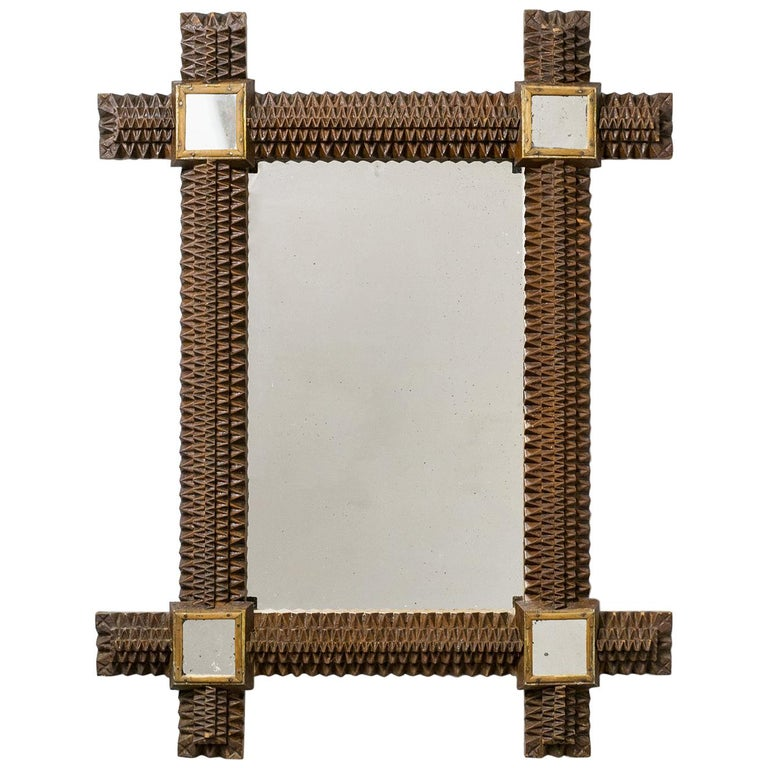 Carved-wood mirror, 1927, offered by mdrn