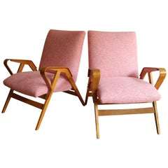95a792c73006 Pair of Midcentury Tatra Armchairs  Model No. 24-23 by Frantisek Jirak