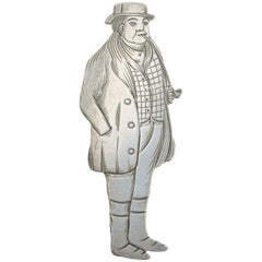 Edwardian Novelty Silver Figural Bookmark Charles Dickens 'Tony Weller' New York