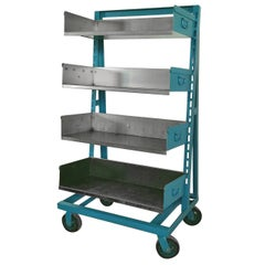 Industrial Steel Factory Storage Rack Shelving Unit, Choice of Color; Two avail
