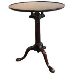 George III Mahogany Dish Top Wine Table, circa 1760