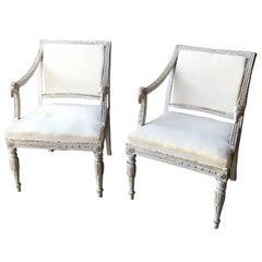 Pair of 19th Century Swedish Ram Head Chairs