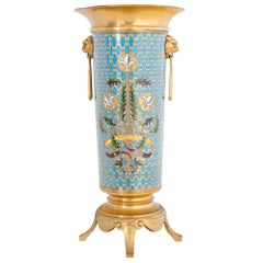 Cloisonné Vase, Signed Barbedienne, France, Second Half of the 19th Century