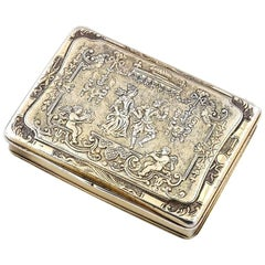 Renaissance Style German Silver Gilt Snuff Box