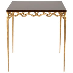 Antonini Side Table with Antique Gold Paint