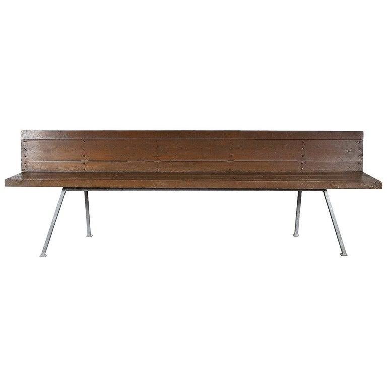 Rare Dom Hans van der Laan Bench, 1967 For Sale