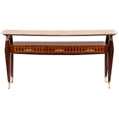 Italian Design Midcentury Console Table in the Style of Paolo Buffa, 1950s