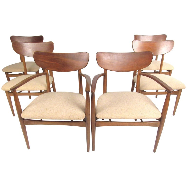 "Scandinavian Dining Room Chairs: Set Of Six Scandinavian ""Copenart"" For Morganton Dining"