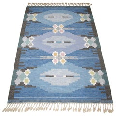 Mid-20th Century Swedish Kilim Röllakan Rug by Ingegerd Silow