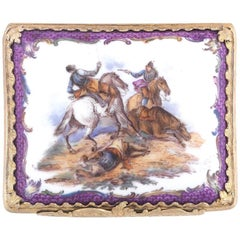 German Porcelain Snuff Box, Probably Dresden, 1798-1815