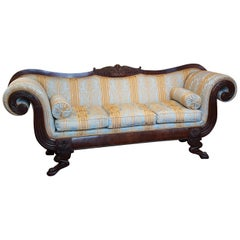 Regency Mahogany Framed Sofa