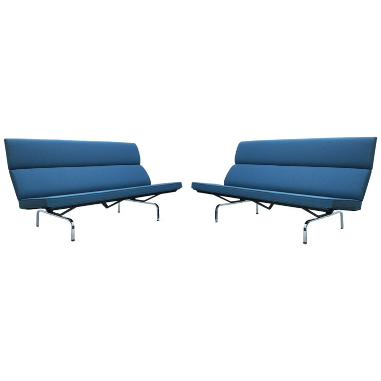 Charles & Ray Eames Herman Miller Compact Sofa Pair or Single 1