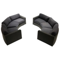 Pair of Curb Sofas by Milo Baughman for Thayer Coggin