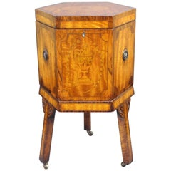 Fine Early 19th Century Inlaid Sheraton Wine Cooler Cellaret