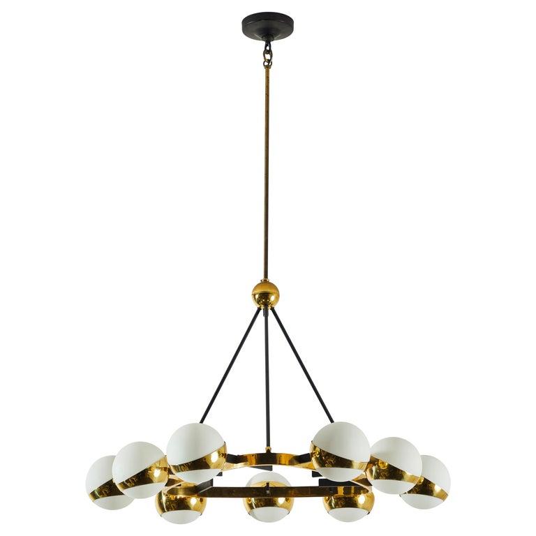 Stilnovo chandelier, 1950s, offered by Rewire