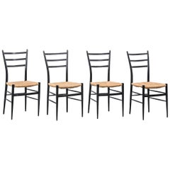 Set of 4 Chiavari Spinetto Dinning Chairs, Chiavari, Italy, 1950s