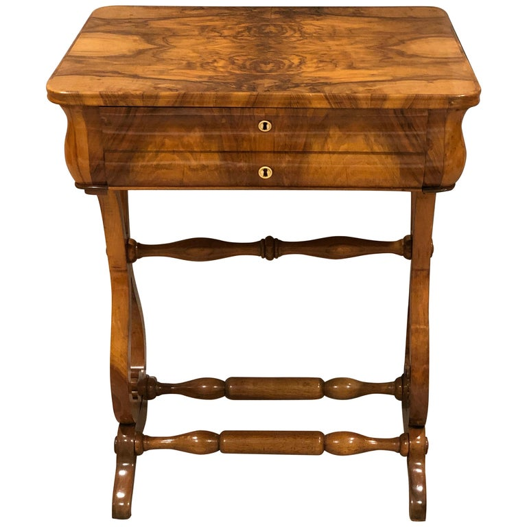 Biedermeier Sewing Table, South German, 1820 For Sale