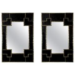 "Beautiful Pair of ""Bamboo"" Mirrors"