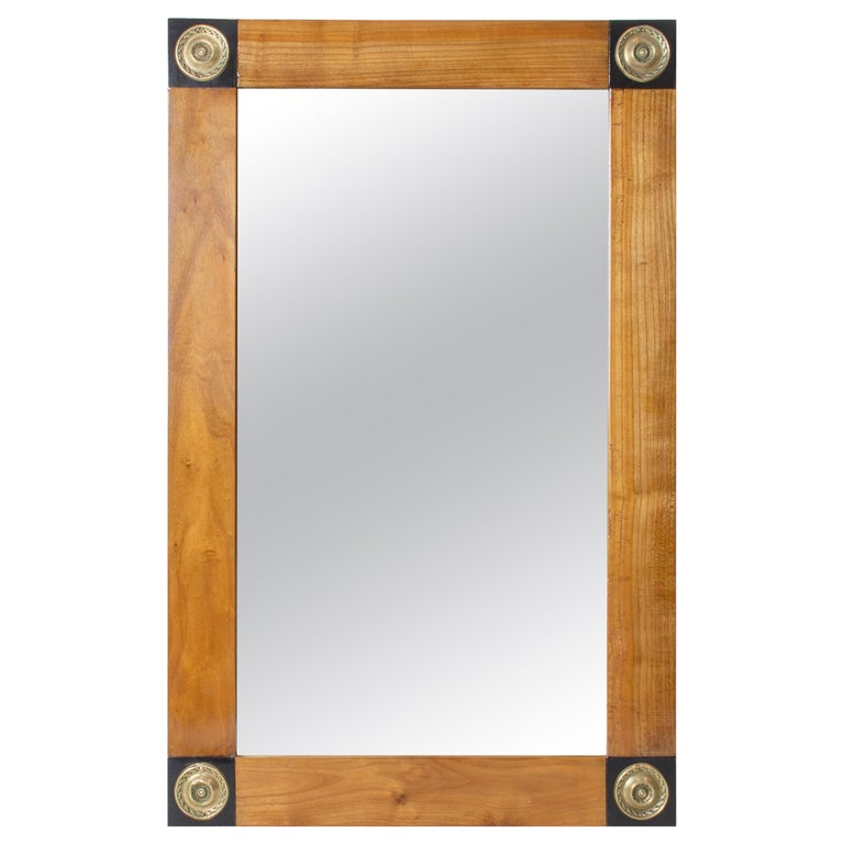 Early 19th Century, Empire / Biedermeier Cherrywood Mirror For Sale