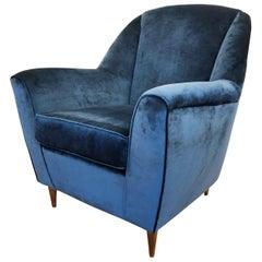 Large Italian Midcentury Armchair