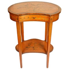 Sheraton Style Satinwood Side Table by Edwards and Roberts