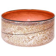 Art Glass Centerpiece Bowl in Pink