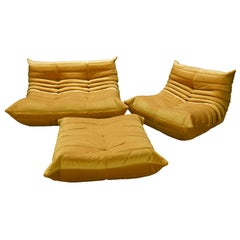 Three Piece Togo Set by Michel Ducaroy Manufactured by Ligne Roset in France