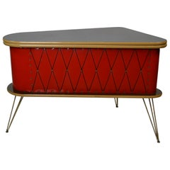 1950s Red Storage Cabinet, Home Bar