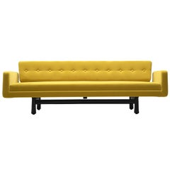 Edward Wormley Reupholstered Yellow Sofa Model 5316