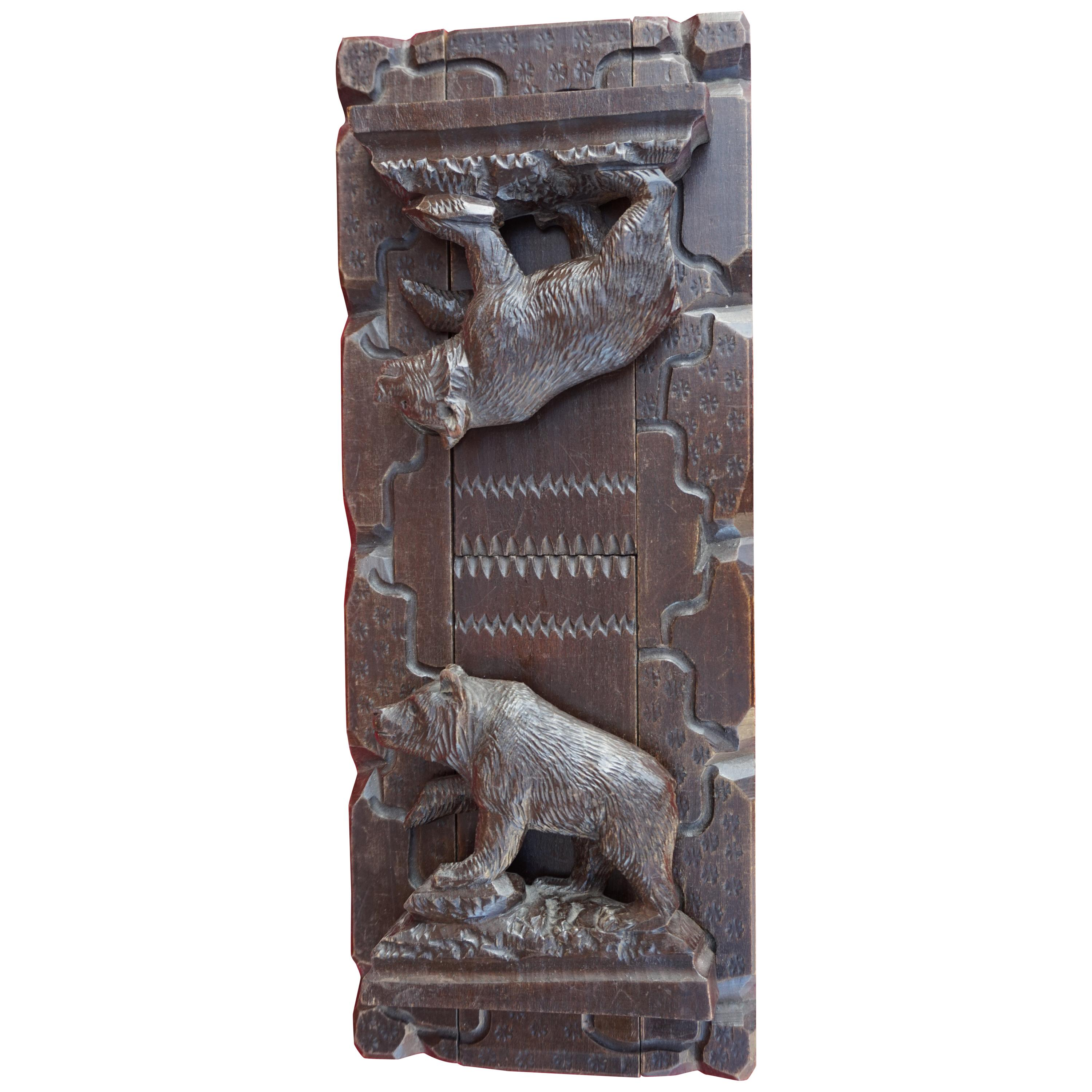 Hand Carved Marble Stone Standing Bear Pendant