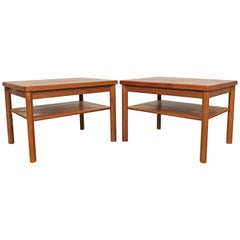 Pair of Danish Modern Mobelfabrikken Toften Teak End Tables