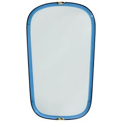 Fontana Arte Blue Glass Mirror, 1950s