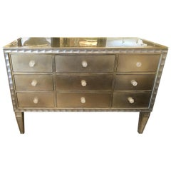 Moviestar Hollywood Regency Style Gilt and Silvered Chest