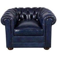 Tufted English Chesterfield Leather Club Chair
