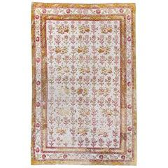 Antique Cotton Agra Rug, circa 1920s