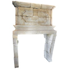 Extremely Rare 17th Century Louis XIII Chateau Fireplace, 1610-1643